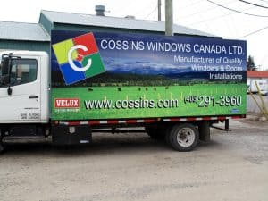 Truck Wrap / Billboard for Cossins Windows Canada Lrd.