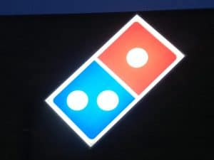 Dominos Pizza Sign