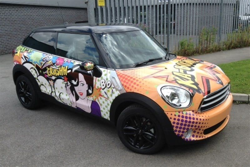 Vinyl Wrapped Mini Cooper
