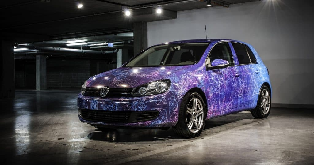 Vinyl Wrapped Volkswagen Golf