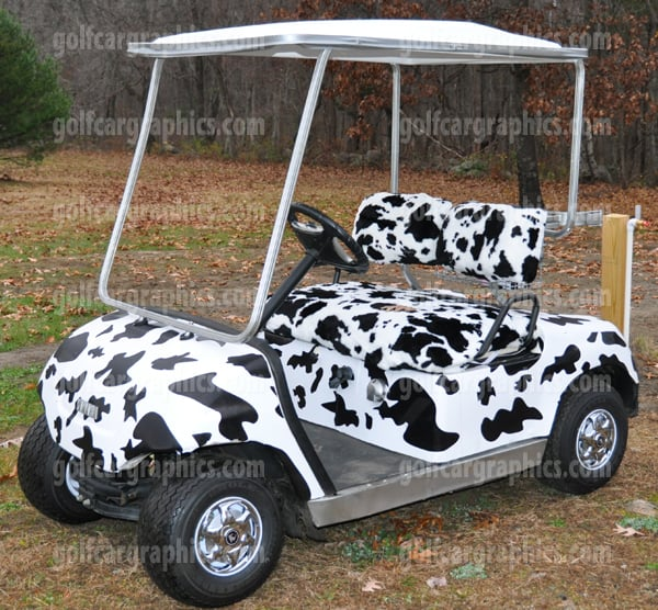 Cow Hide Golf Cart
