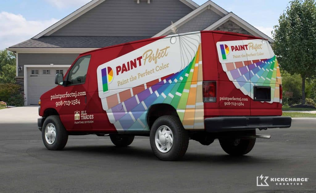 Vinyl Wrapped Painters Van
