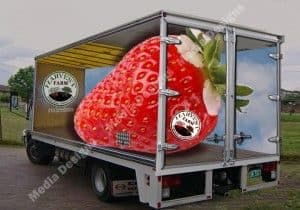 Strawberry Vehicle Wrap