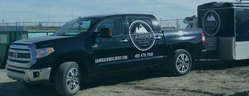 ssawback builders truck wrap